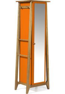 Armário Multiuso 1 Porta Stoka 981 Nogal/Laranja Novo - Maxima