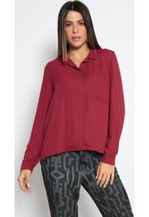 Camisa Lisa Com Bolso- Bordã´Enna