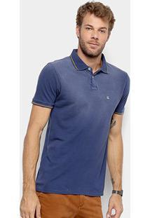 Camisa Polo Foxton Piquet Indigo Masculina - Masculino-Azul