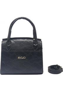 Bolsa De Couro Recuo Fashion Bag Baú Preto
