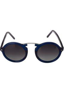 Óculos Euro Casual Vintage Feminino - Feminino-Prata