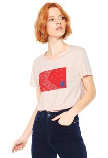 Camiseta Calvin Klein Jeans Estampada Rosa