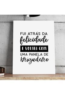 Poster Ou Tela Mdf - Panela De Brigadeiro
