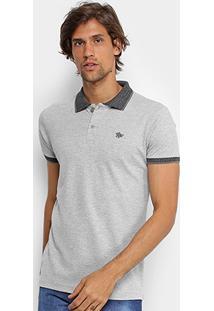 Camisa Polo Rg 518 Lisa Gola Quadriculada Logo Metalizada Masculina - Masculino