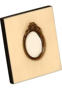 Porta-Retrato Decorativo De Chifre Frame Com Detalhe De Metal