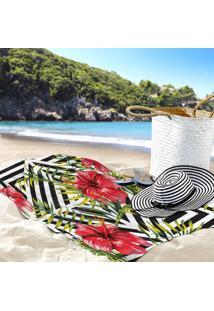 Toalha De Praia / Banho Floras Ibisco