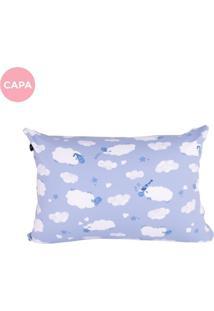 Fronha Avulsa Fom Travesseiro Mini Carneirinhos Azul - Kanui