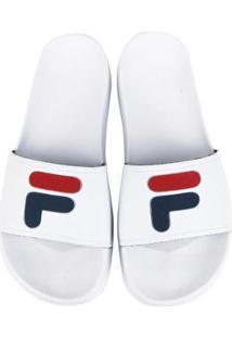 Chinelo Fila Flip Flop Slider Feminino - Feminino-Branco