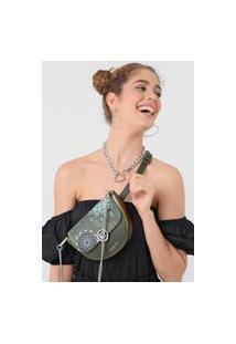 Bolsa Desigual Belly Bag Luna Rock Verde