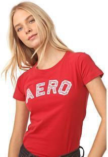 Camiseta Aeropostale Renda Vermelha