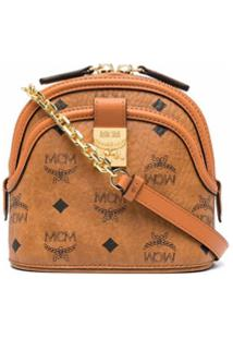 Mcm Soft Berlin Shoulder Bag - Marrom