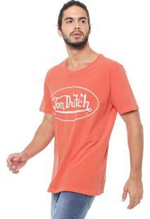 Camiseta Von Dutch Logo Coral