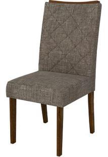 Cadeira Golden 2 Peças - Linho Bronze - Rústico Malbec
