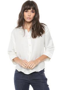 Camisa Linho Coca-Cola Jeans Lisa Off-White