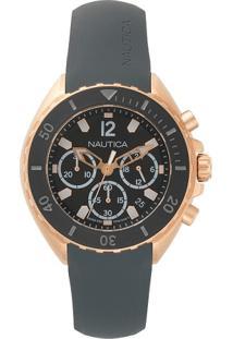 Relógio Nautica Masculino Borracha Cinza - Napnwp008