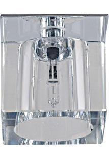 Spot Embutir Quadrado Cristal 5Cmx5,5Cm 20W G4 Bella Iluminação Caixa Com 2 Unidade Cromado Bivolt