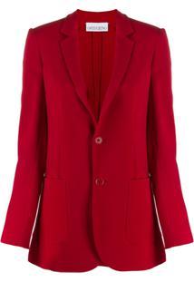 Red Valentino Single-Breasted Blazer - Vermelho