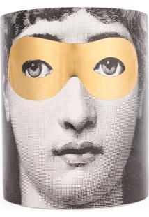 Fornasetti Vela Com Suporte De Cerâmica 'Golden Burlesque' - Cinza