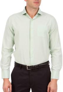 Camisa Social Masculina Verde Lisa