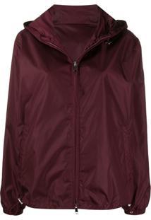 Moncler Hooded Zip-Up Jacket - Roxo