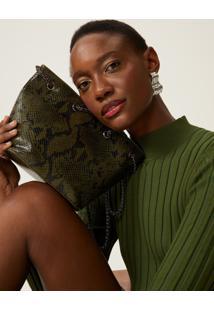 Bolsa Amaro Mini Bucket Snake Verde Escuro - Verde - Feminino - Dafiti