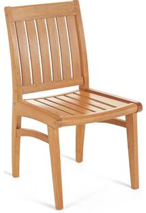 Cadeira Fixa Plus 076 Marrom Claro- Tramontina