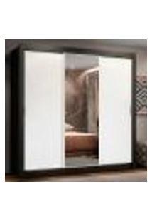 Guarda Roupa Casal Madesa Lyon Plus 3 Portas De Correr Com Espelho 4 Gavetas