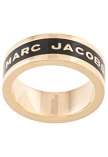 Marc Jacobs Anel Com Logo - Preto