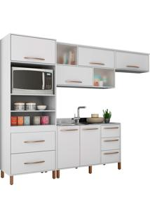 Cozinha Compacta Canela Branco Móveis Albatroz
