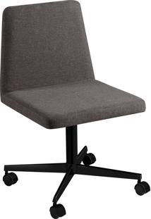 Cadeira Office B. Loft Pint Preto C/ Rodizios Linho Daf