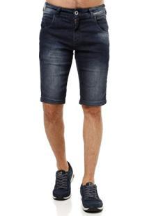 Bermuda Jeans Masculina Rock & Soda Azul