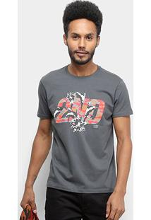 Camiseta Ellus 2Nd Floor Basic Masculina - Masculino-Cinza