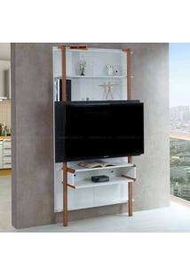 Estante Home Theater Para Tv Até 42 Polegadas Karl 180 X 99,8 X 25,5 Branco/Preto - Urbe Móveis