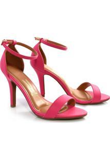 Sandália Pink De Salto Alto Vizzano