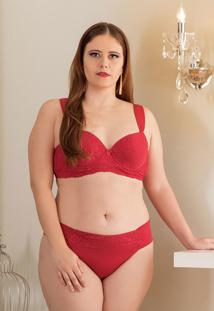 Conjunto Lingerie Embelleze Plus Size Vermelho