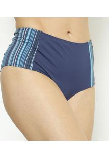 Calcinha Hot Pant Listrada- Azul Marinho & Azul- Dandaniela Tombini