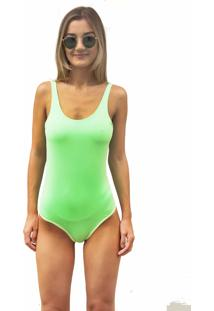Body Pkd Concept Neon Com Bojo Removível Verde Multicolorido