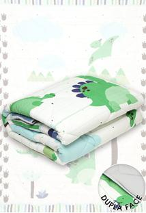 Edredon Solteiro Lepper Dino 150X210 Cm Branco