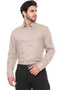 Camisa Linho Forum Smart Bege