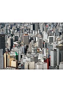 Jogo Americano Decorativo, Criativo E Descolado | Vista Aérea De Prédios Em São Paulo, Sp - Tamanho 30 X 40 Cm