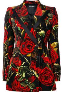 Dolce & Gabbana Jaqueta Com Estampa Floral - Preto