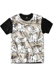 Camiseta Bsc La Kush Dolar Sublimada Masculina - Masculino-Preto