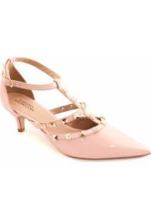 Scarpin Kitten Spikes Sapato Show - Feminino-Rosa Claro