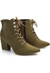 Ankle Boots De Salto Bloco Off Line