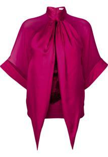 Givenchy Blusa De Seda Drapeada - Rosa