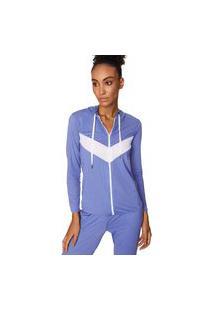 Jaqueta Comfort Color Azul/Branco Morena Rosa Living