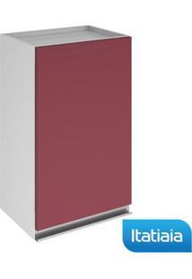 Módulo Cozinha Aéreo Clarice 1 Porta - Ip1-40 - Vermelho - Aço - Itatiaia