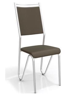 Cadeira Kappesberg Londres 2C056Cr (2 Uni) Cromado/Marrom