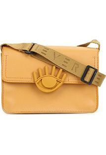 Bolsa Fiever Flap Eco New Pele Feminina - Feminino-Amarelo