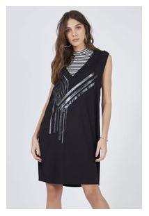 Vestido Malha Silk Composé Cropped Preto